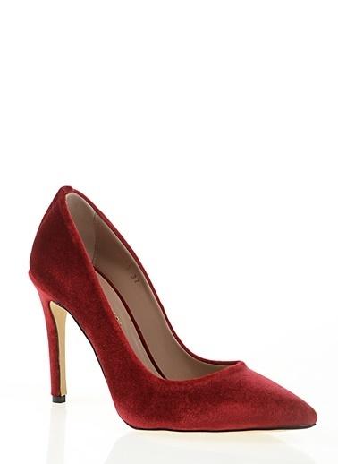 Nemesis Shoes Nemesis Shoes Deri İnce Topuk  Kadın Stiletto Topuklu Ayakkabı Kırmızı
